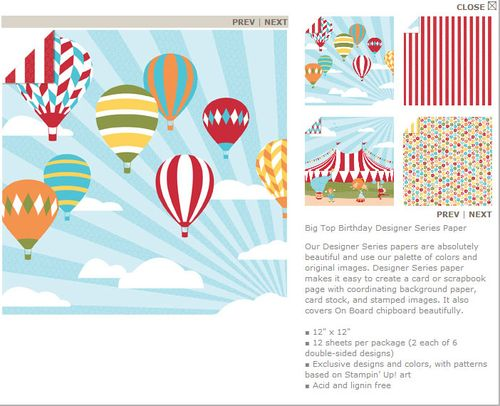 Big Top Birthday Designer Series Paper